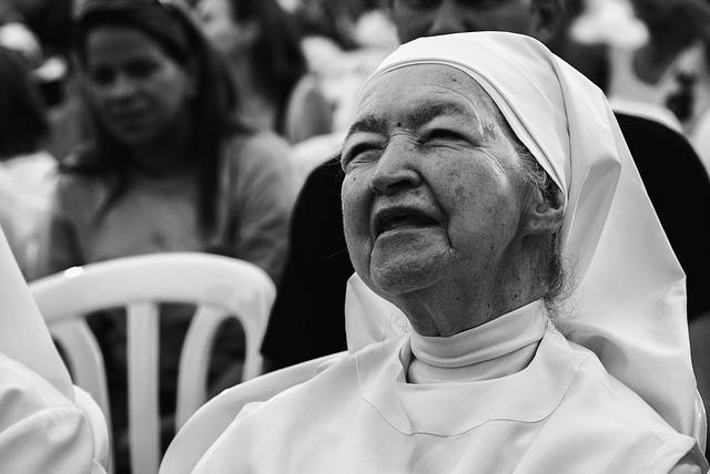 Maracaibo, Venezuela, Woman, Nun, Older, Close-up