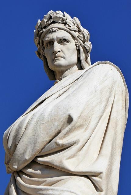 Dante, Sculpture, Statue, Art, Marble, Monument