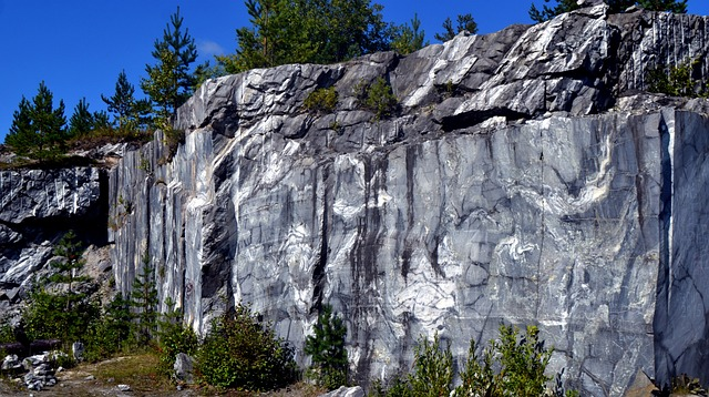 Marble, Grey, Quarry, Stone, Ruskeala, Marble Quarrying