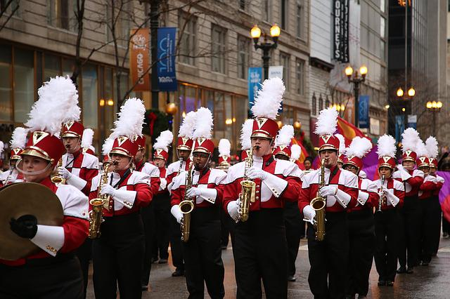 Marching Band, Chicago, Thanksgiving, November, March