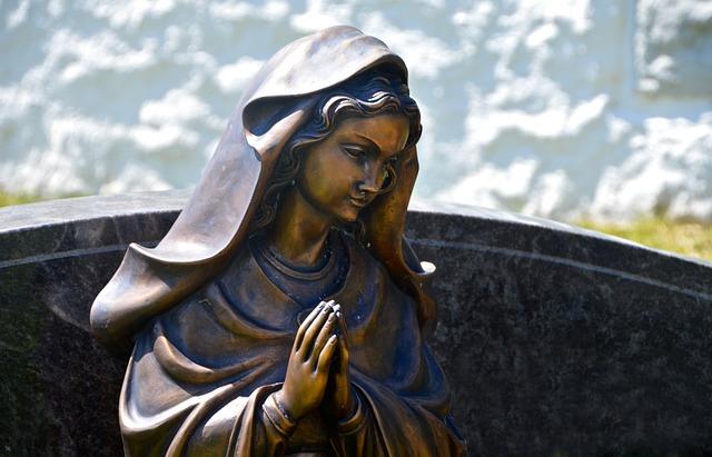 Commemorate, Maria, Figure, Angel, Grave, Tombstone