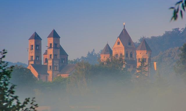 Monastery, Maria Laach, Rhineland Palatinate, Towers