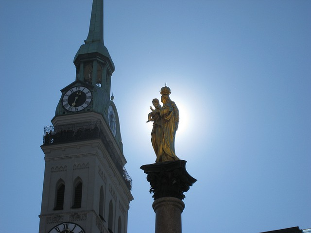 Bayer, Capital, Munich, Peter's Church, Marian Column