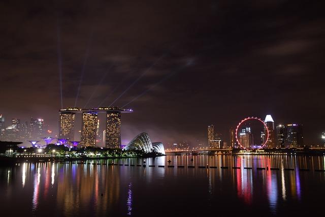 Marina Bay, Singapore, Landmark, Skyline, Waterfront