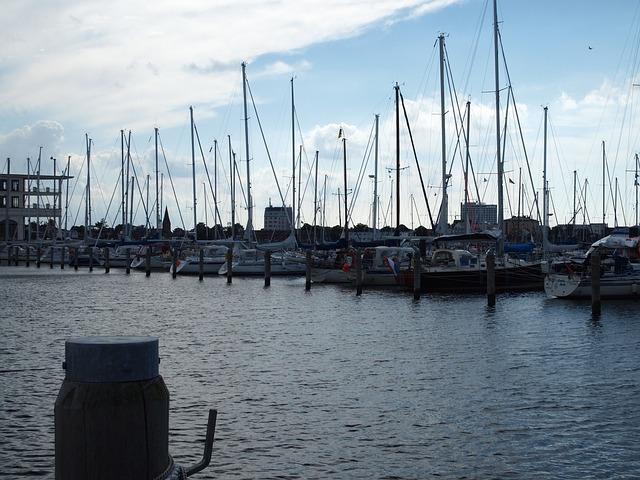 Marina, Warnemünde, Masts, Twilight, Boats, Water, Sea