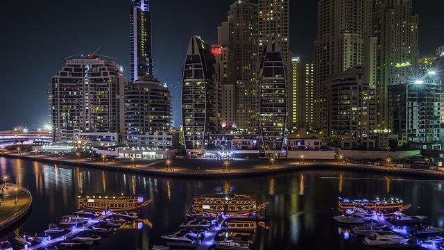 Dubai, Marina, Arab, United, Emirates, Uae, Skyline