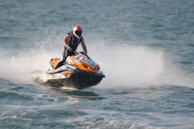 Jet Ski, Navigation, Driver, Sea, Wave, Ocean, Marine