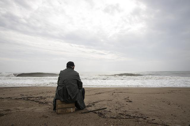 Storm, Human, Marine, Wave, Wind, Only, Loneliness