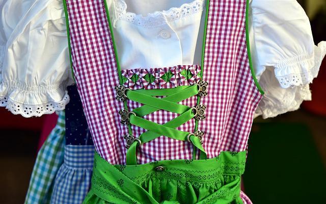 Dirndl, Sale, Stand, Market, Colorful, Costume