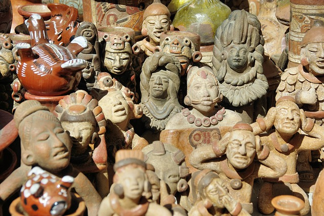 Market, Statues, Otavalo, Ecuador