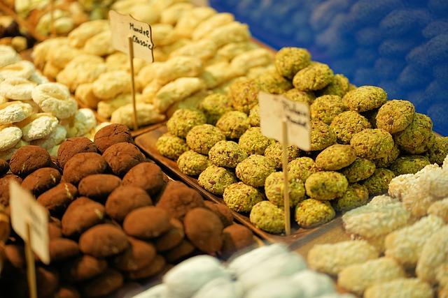Praline, Sweet, Food, Fruit, Background, Market
