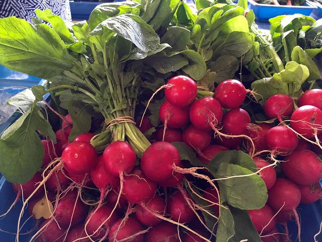Radishes, Fresh, Market, Food, Healthy, Raw, Radish