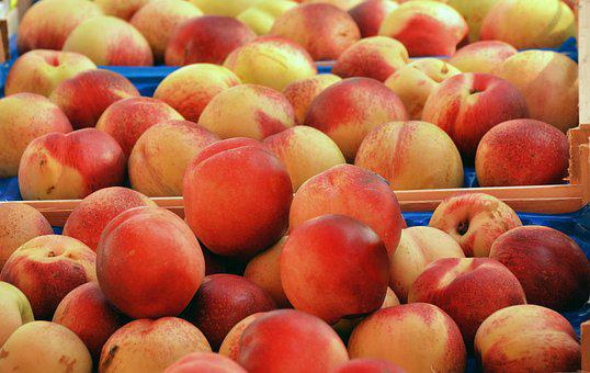 Peaches, Fruit, Food, Juicy, Healthy, Market, Vitamins