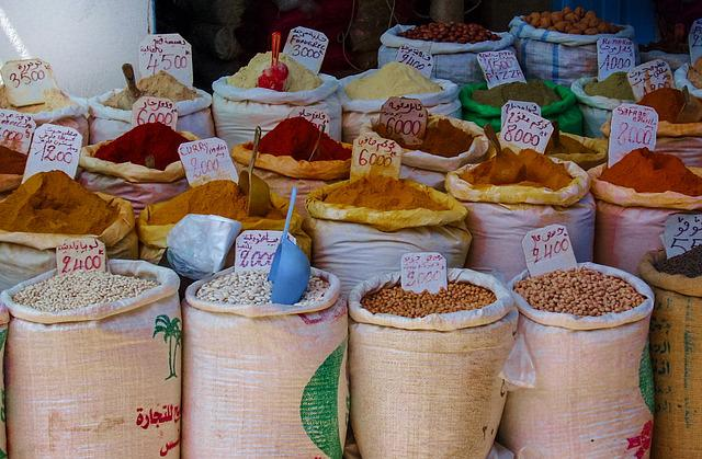 Spices, Market, Food, Pepper, Red, Cooking, Organic