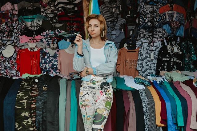 City Market, Market Trade, Saleswoman, Flea Market