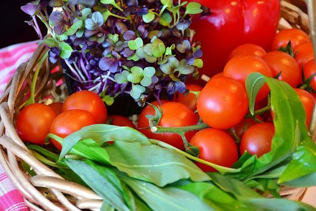 Vegetables, Basket, Purchasing, Market
