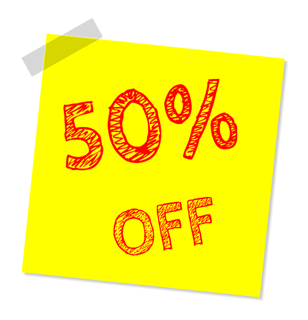 Fifty Percent Off, Discount, Sale, Offer, Marketing