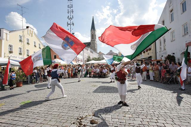Flag Wavers, Marketplace, Waldkirchen