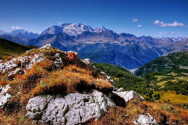 Marmolada, Dolomites, Italy, Mountains, South Tyrol