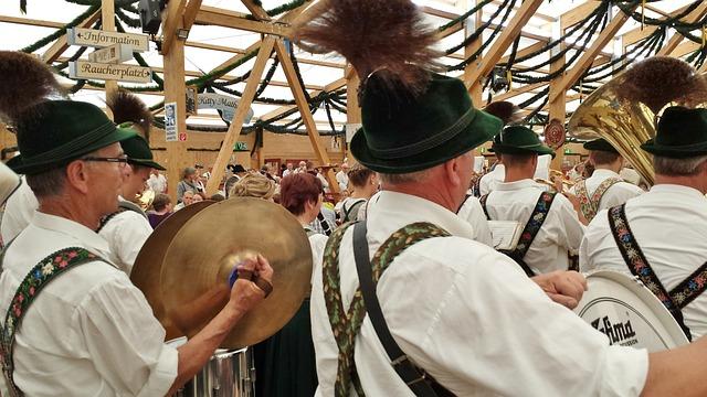 Brass Band, Oktoberfest, Munich, Marquee, Tradition