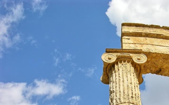 Olympia, Greece, Column, Antique, Corinthian, Marquee