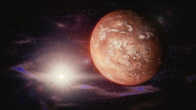 Mars, Sun, Solar System, Space, Universe, Planet, Stars
