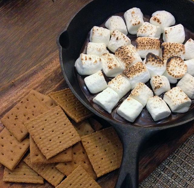 Smores, Food, Dessert, Sweet, Graham, Marshmallow