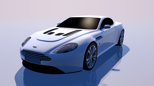 Aston, Martin, Vantage, Sports Car, White Room, Auto