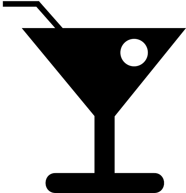Martini, Glass, Cocktail, Olive, Straw, Stick