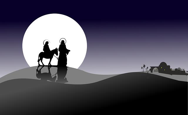 Christmas, Asterisk, Holidays, Józef, Mary