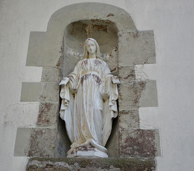 Statue, Holy Virgin, Religious Figure, Mary
