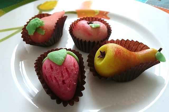 Marzipan, Sweets, Fruits