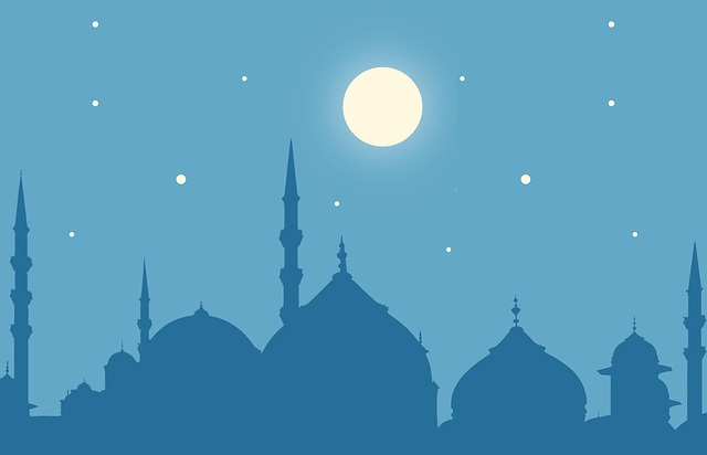 Ramadan, Kareem, Moon, Masjid, Eid, Arabic, Night
