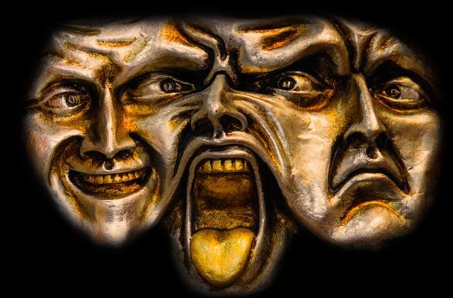 Art, Faces, Mask, Head, 3 Faces, Human, Psyche