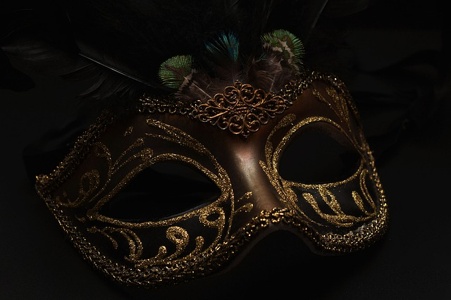 Mask, Carnival, Venice, Black, Cute, Mysterious, Close