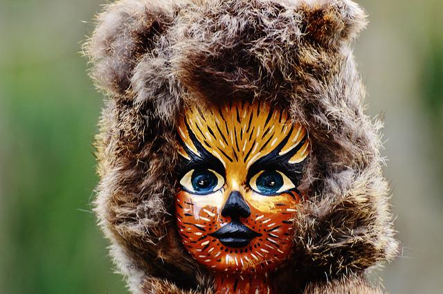 Doll, Cat, Painting, Fur, Mask, Funny, Figure, Carnival