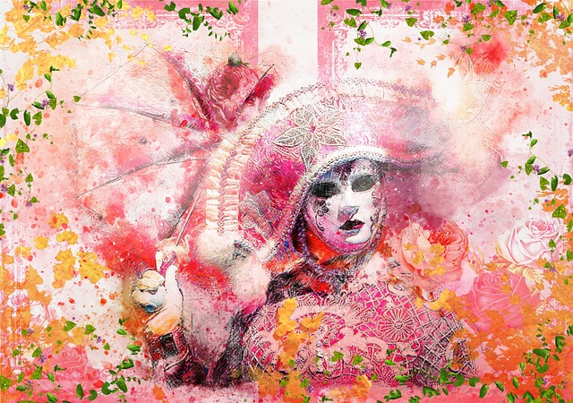 Carneval, Colorful, Rosa, Pink, Colors, Italy, Mask