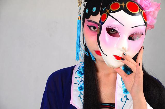 Beijing Opera, Mask, China, Woman, Makeup, Like Me