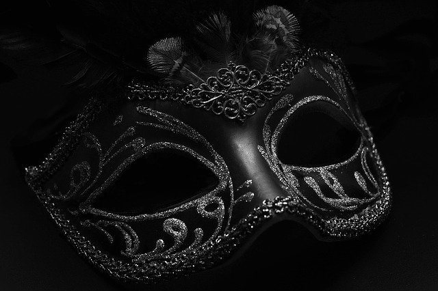 Mask, Carnival, Venice, Black And White, Mysterious