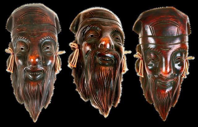 Masks, Wooden Masks, Souvenirs, Carved Masks, Culture