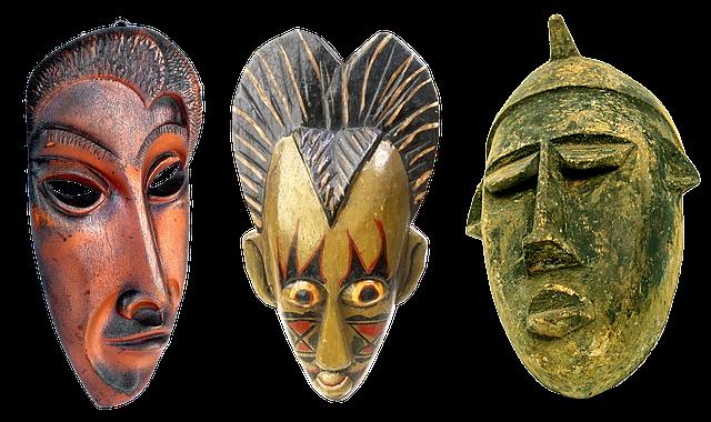 Masks, Wooden Masks, Carved Masks, Culture, Typical