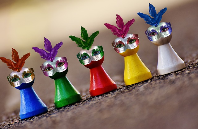 Masks, Carnival, Play Stone, Feather, Funny