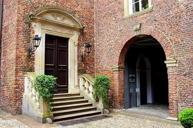 Castle, Courtyard, Concluded Anholt, Hof, Masonry