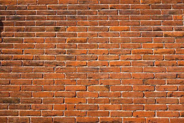 Brick Wall, Red Brick Wall, Wall, Masonry, Mortar