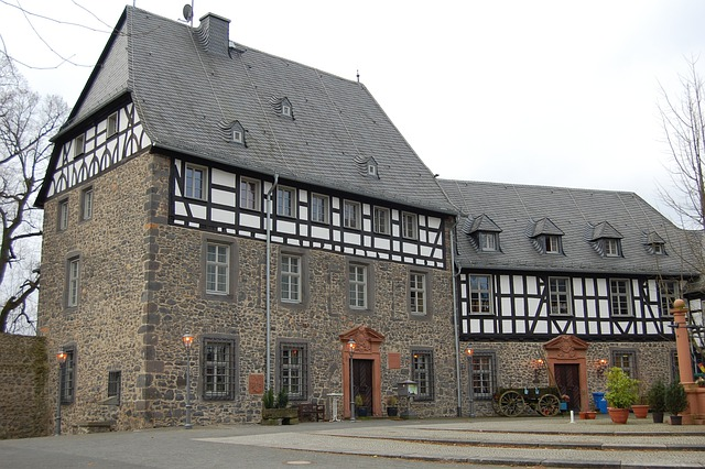 Hof, Courtyard, Monastery, Wall, Masonry, Restaurant