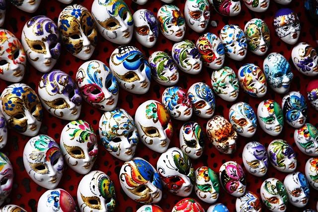 Masks, Carnival, Venice, Italy, Masquerade