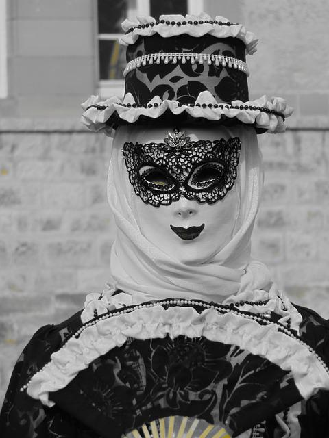 Masked Ball, Masquerade, Carnival, Panel, Costume