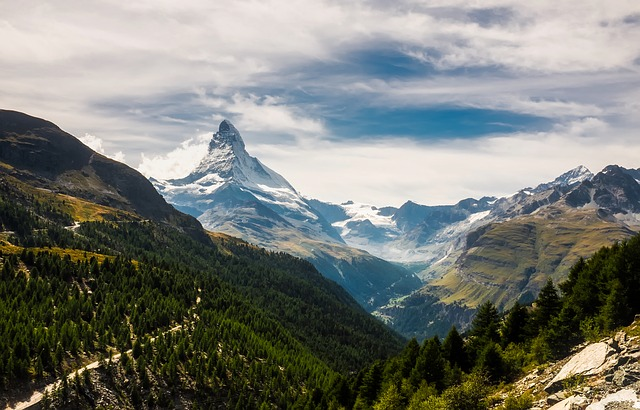 Matterhorn, Zermatt, Switzerland, Mountains, Snow, Sky