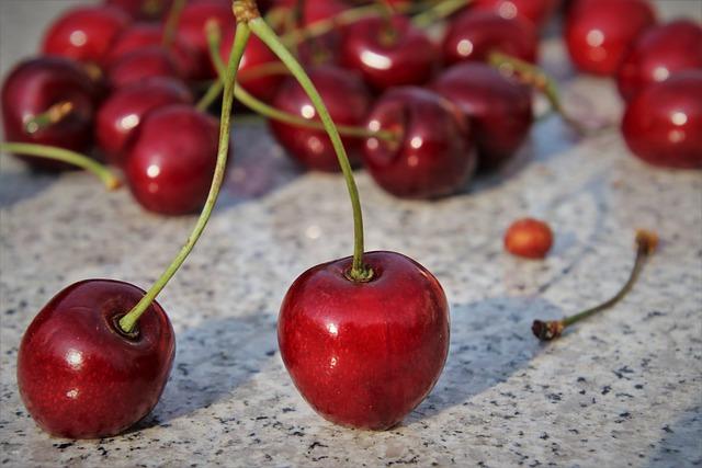 Stone, Sweet Cherry, Diet, Mature, Fresh, Food