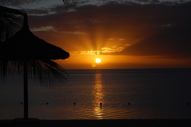 Sunset, Sugar Beach, Mauritius